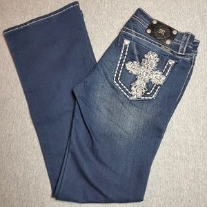 Miss Me Mid-rise Boot Cut Cross Jeans Size 30